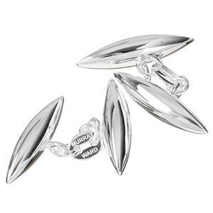 Sterling Silver Torpedo Cufflinks