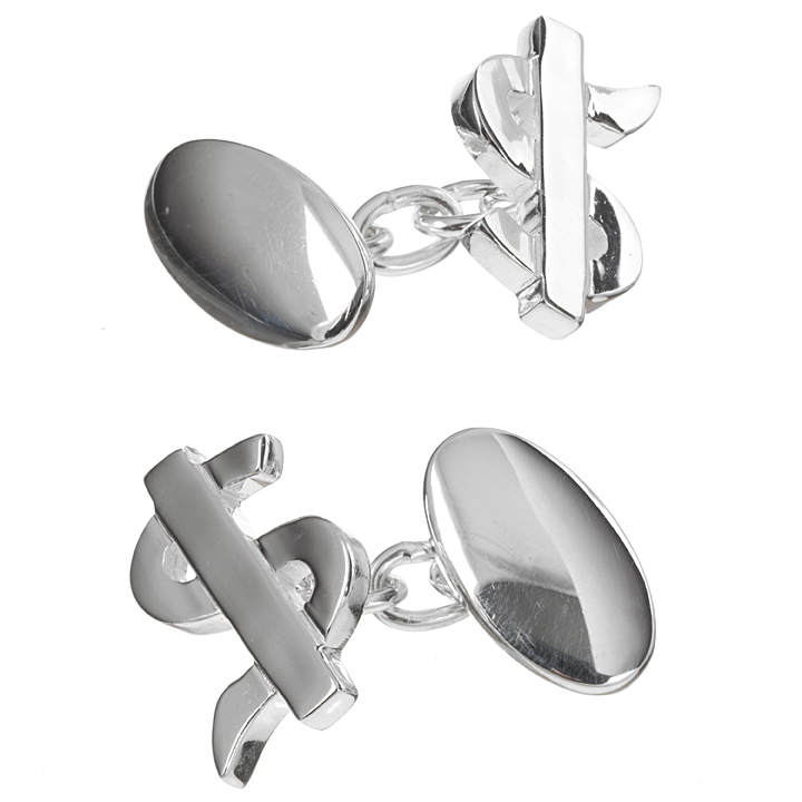 Sterling Silver Dollar Sign Cufflinks