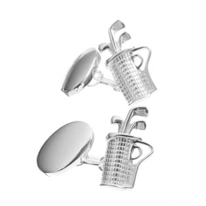 Sterling Silver Golf Bag Cufflinks