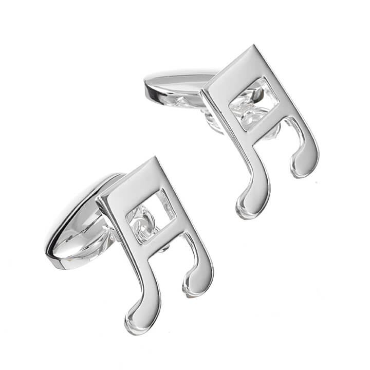 Sterling Silver Musical Notes Cufflinks