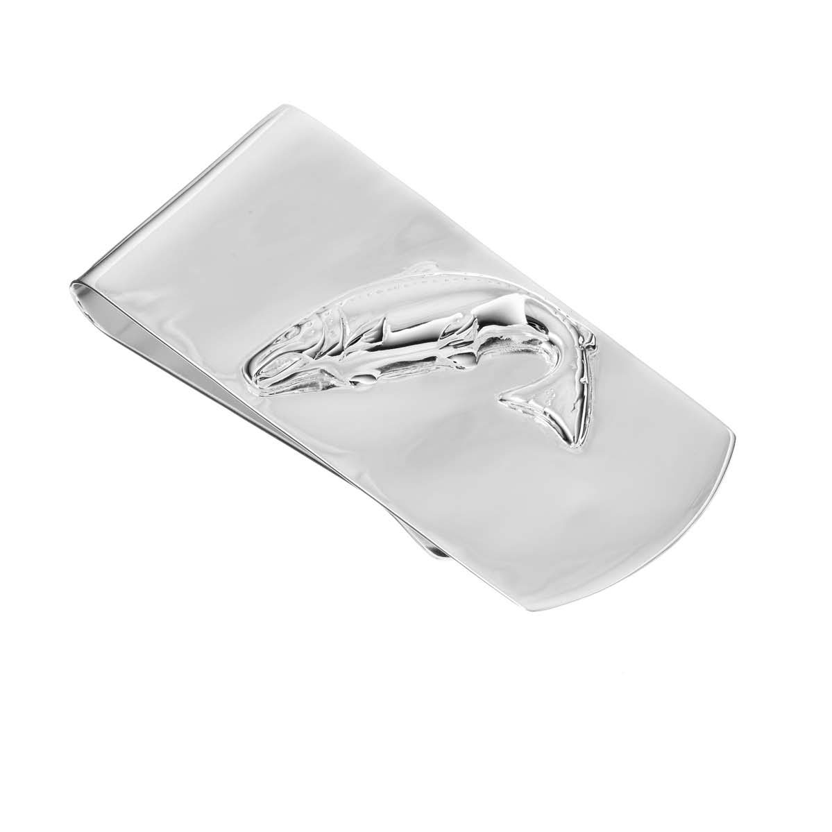 Sterling Silver Salmon Money Clip