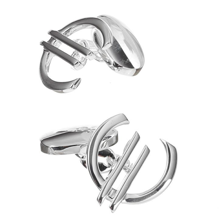 Sterling Silver Euro Cufflinks