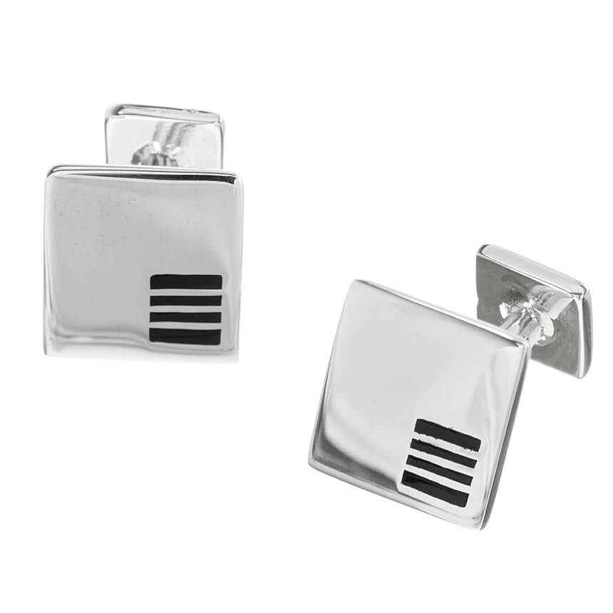 Sterling Silver Square Classic Cufflinks