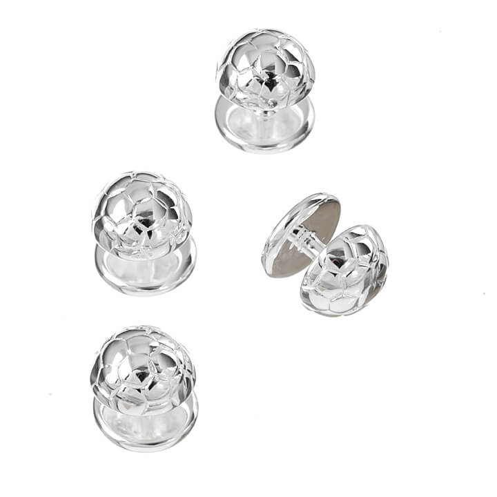 Sterling Silver Football Dress Studs
