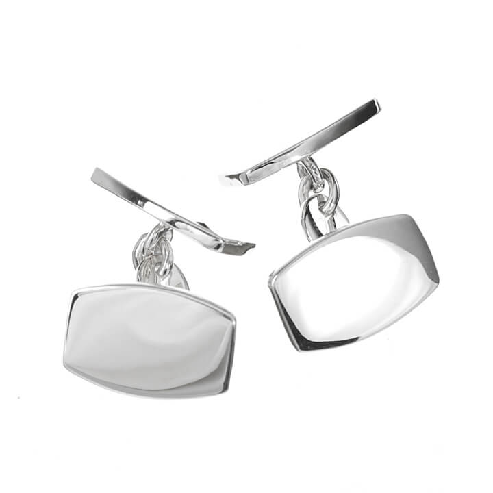 Sterling Silver Double Rectangle Cufflinks
