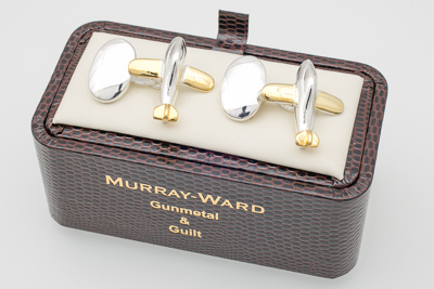 Aeroplane Cufflinks in Gunmetal and Gilt