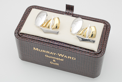 Sailing Boat Cufflinks in Gunmetal and Gilt