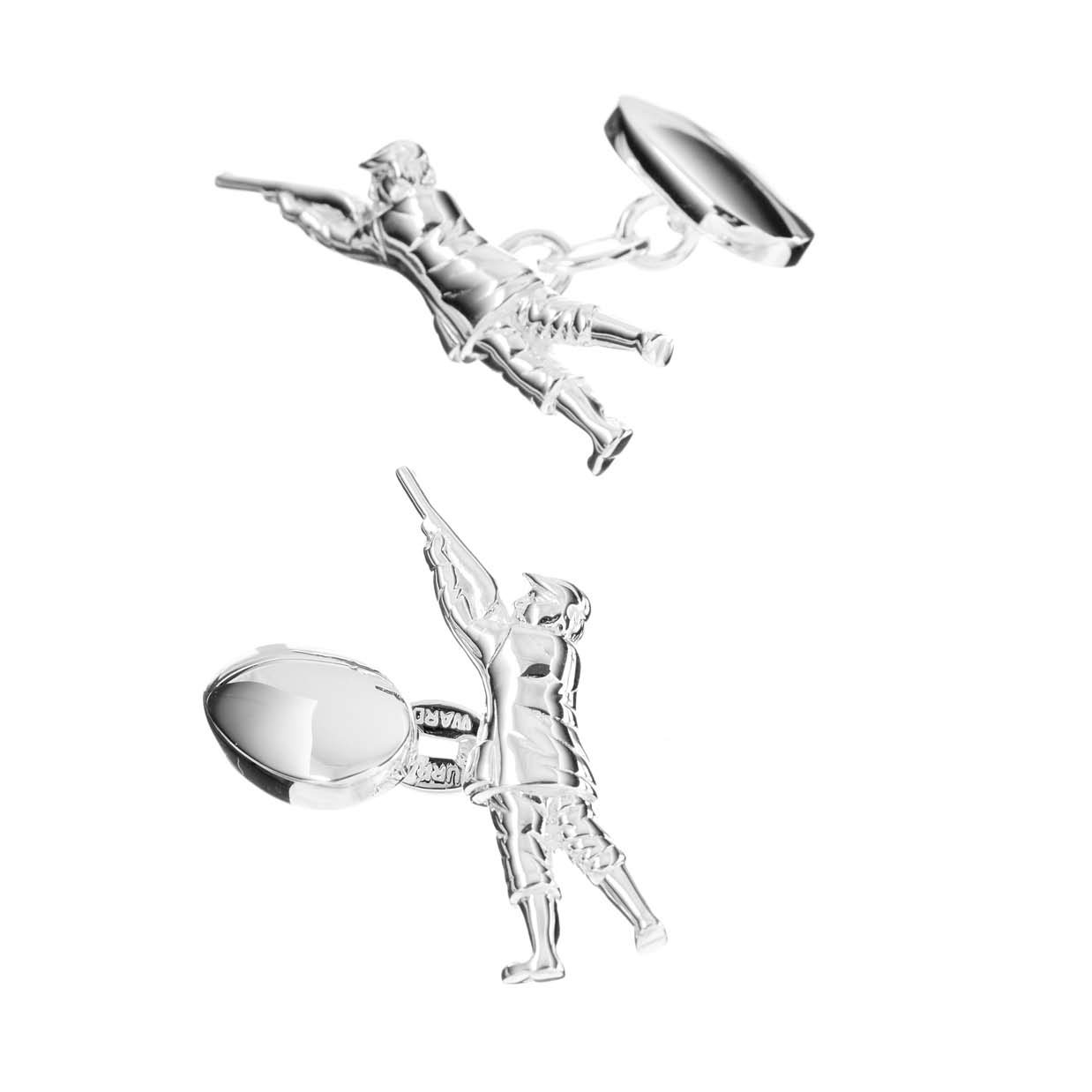 Sterling Silver Shooting Man Cufflinks