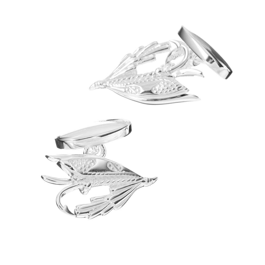 Sterling Silver Fishing Fly Cufflinks