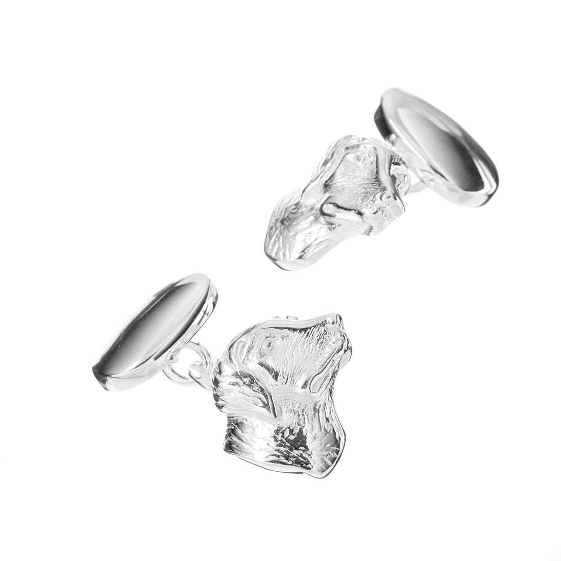 Sterling Silver Gun Dog Cufflinks