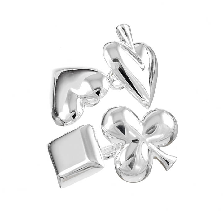 Sterling Silver Playing Cards Cufflinks