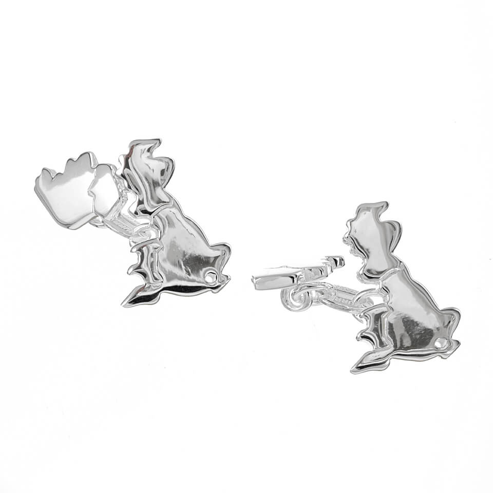 Sterling Silver Map Of UK Cufflinks