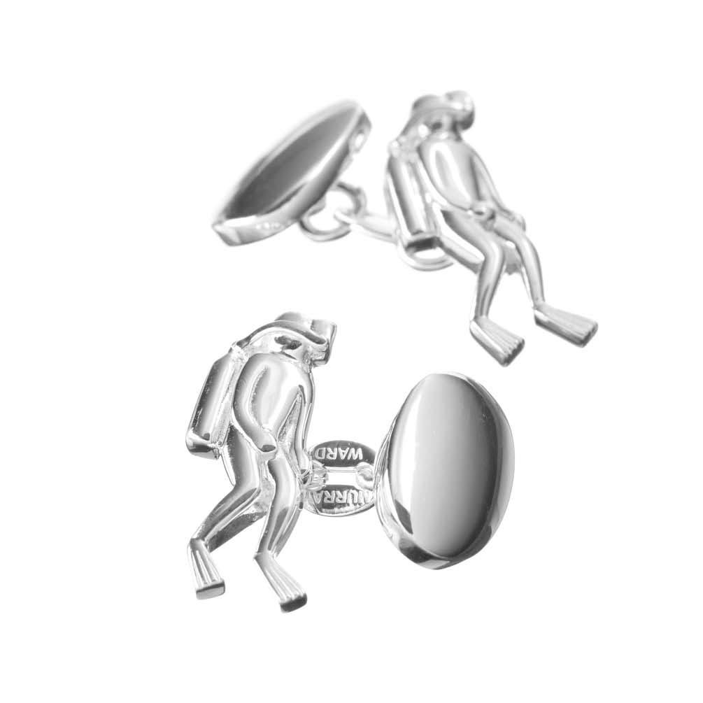 Sterling Silver Diver Cufflinks