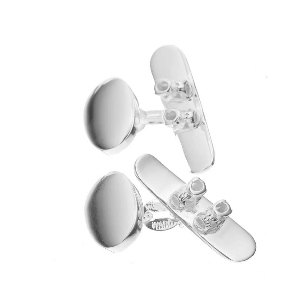 Sterling Silver Snowboard Cufflinks
