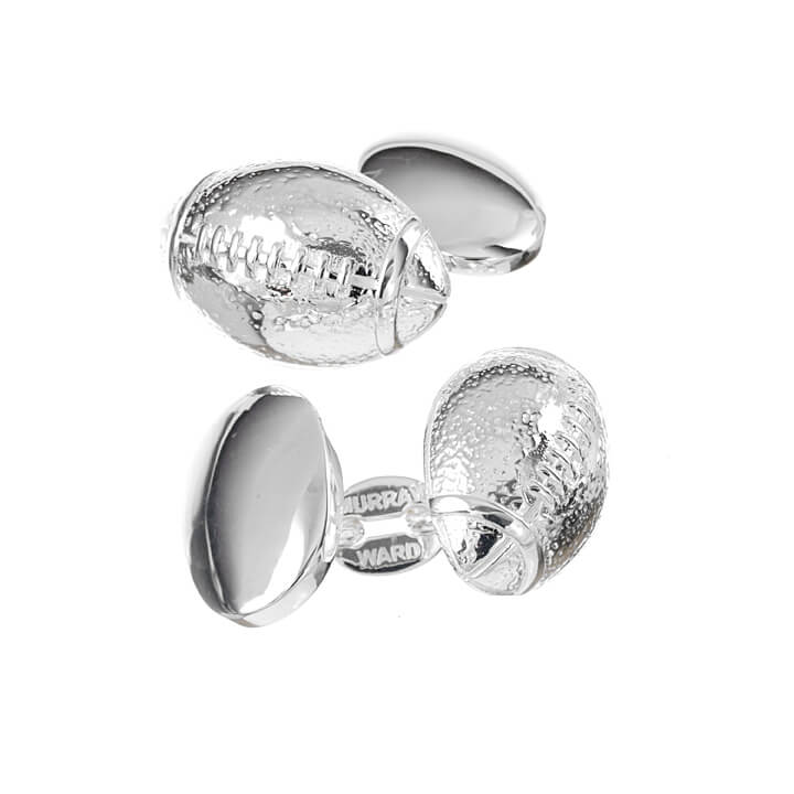Sterling Silver American Football Cufflinks