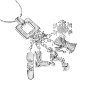 Sterling Silver Snow Boarding Necklace