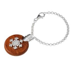Sterling Silver Snowflake Keyring