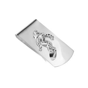 Sterling Silver Snowboard Money Clip