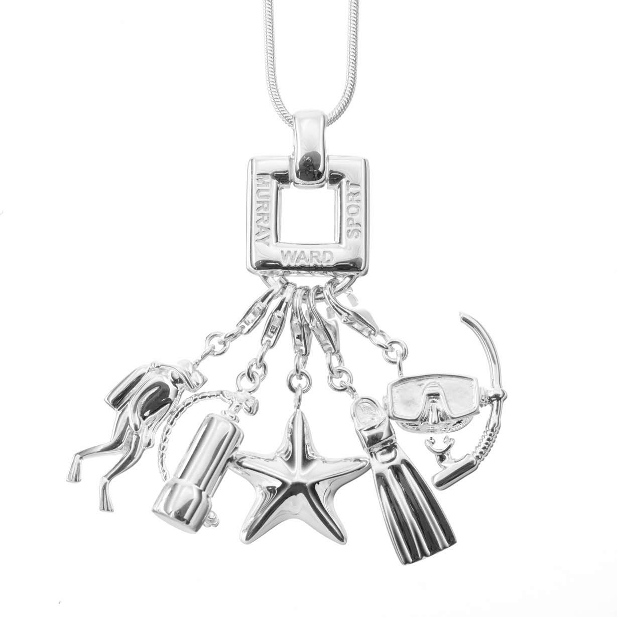 Sterling Silver Diver Necklace