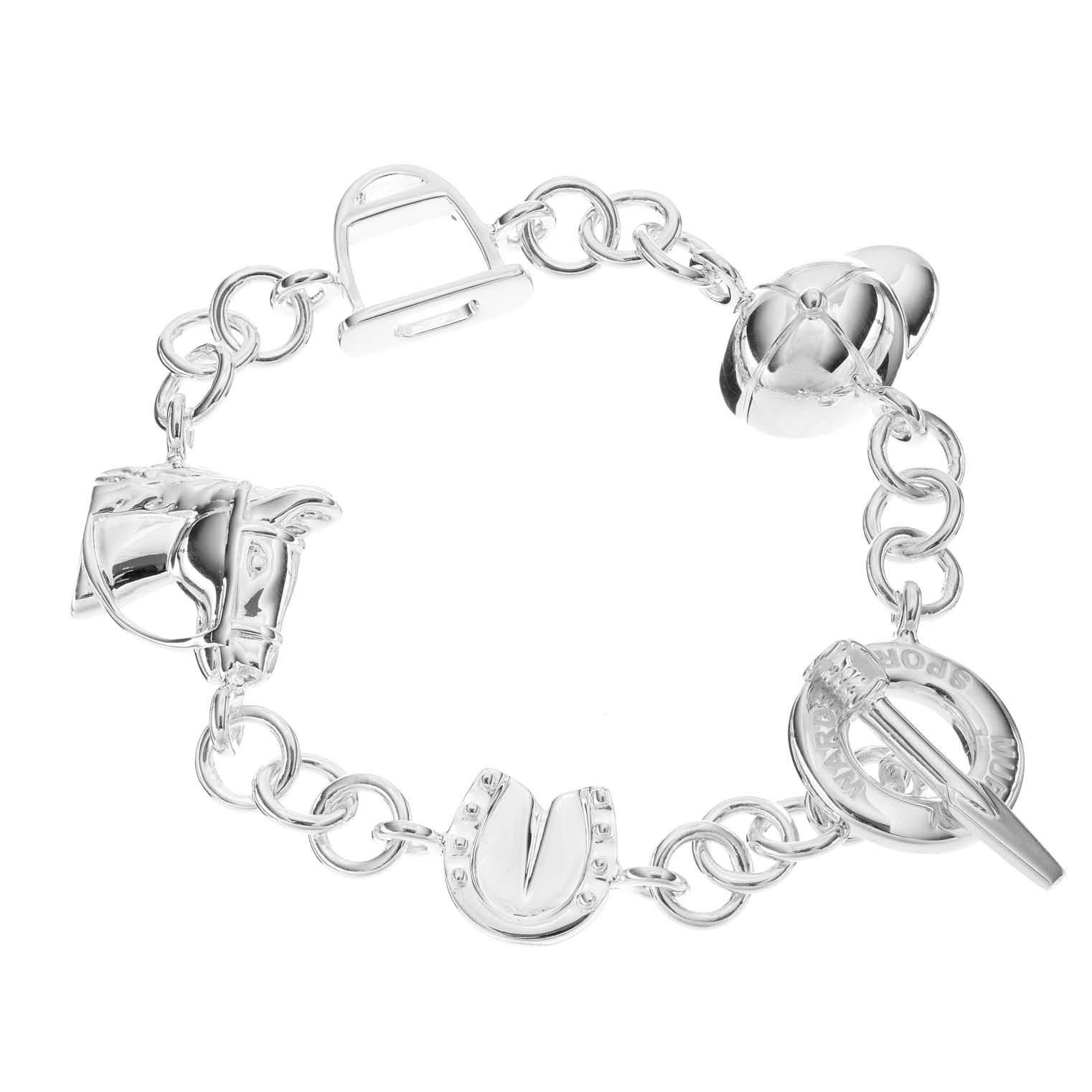 Sterling Silver Equestrian Charm Bracelet