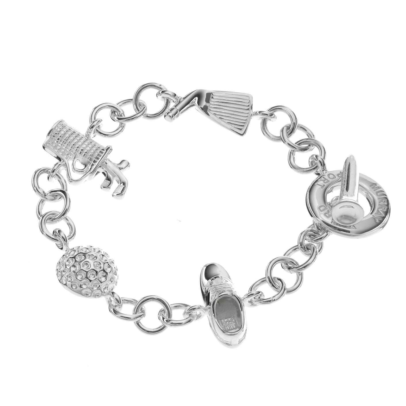 Sterling Silver Golf Charm Bracelet