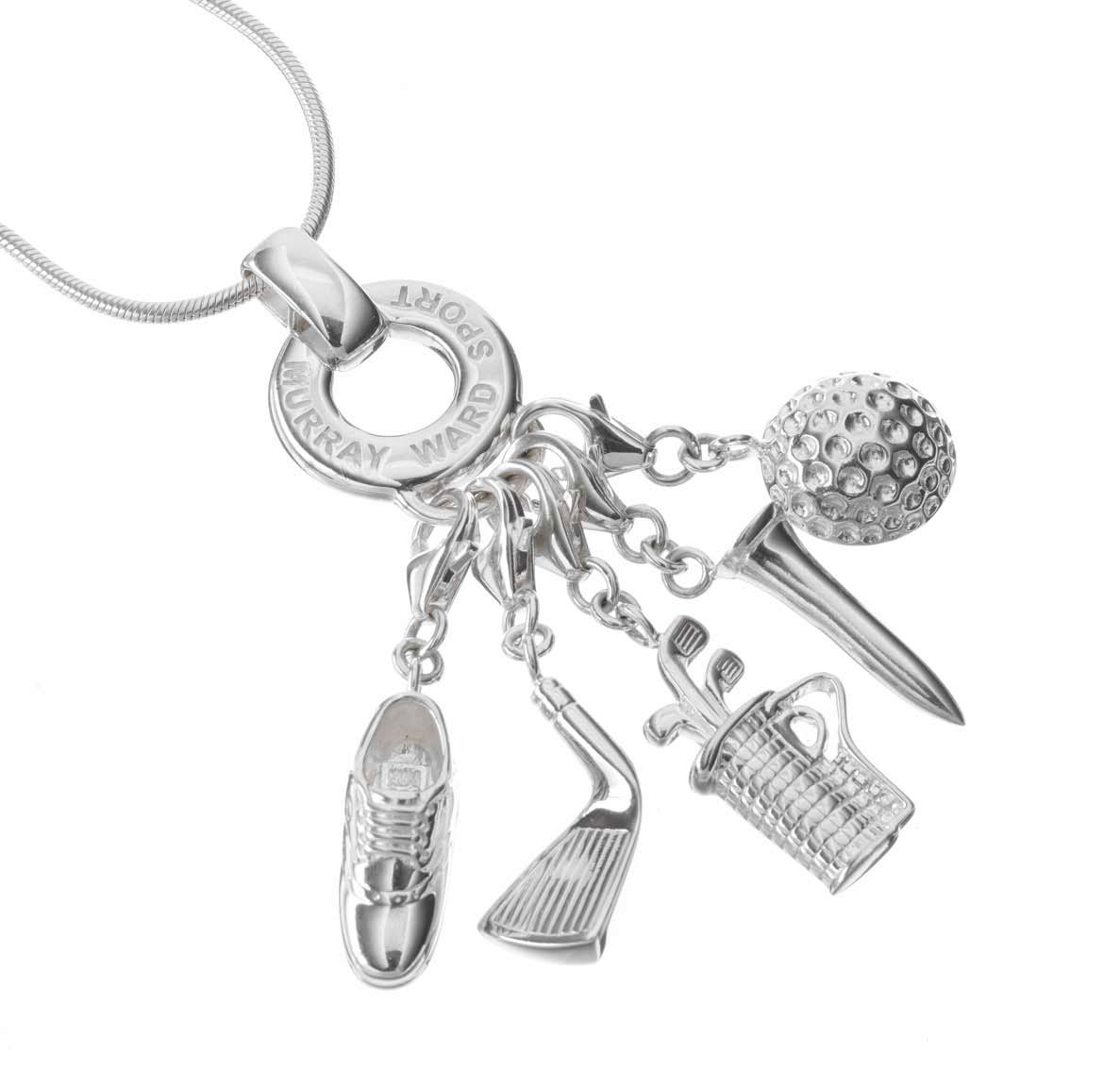 Sterling Silver Golf Charm Necklace
