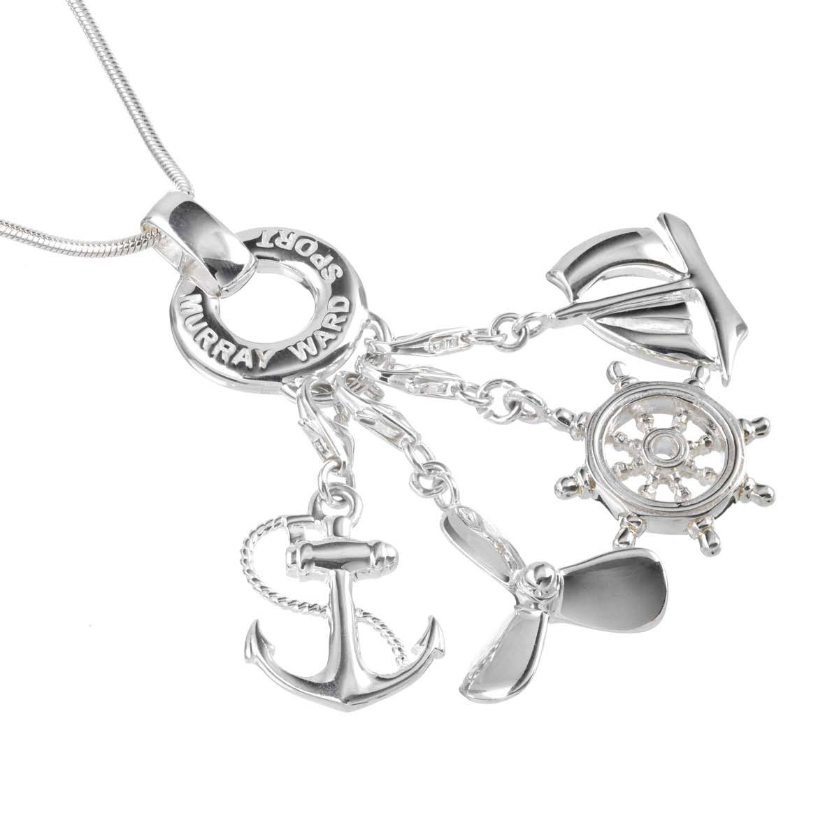 Sterling Silver Nautical Charm Necklace