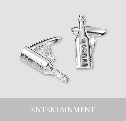 Sterling Silver Entertainment Cufflinks and Jewellery