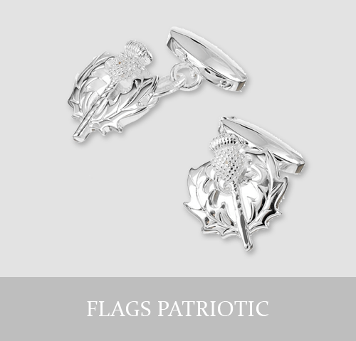 Sterling Silver Flags and Patriotic Cufflinks and Jewellery