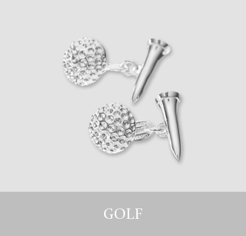 Sterling Silver Golf Cufflinks and Jewellery