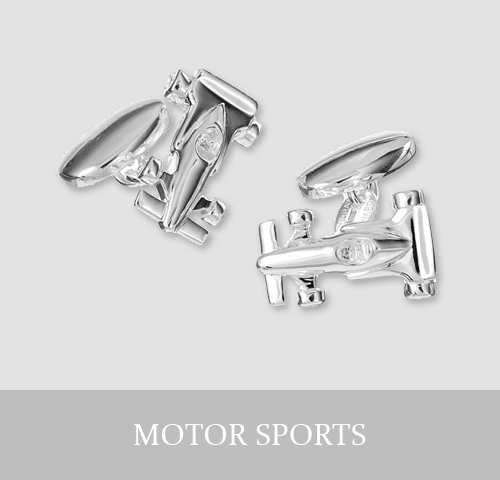 Sterling Silver Motor Sports Cufflinks and Jewellery