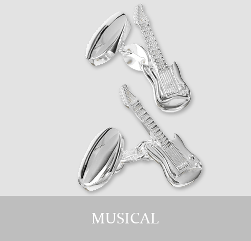 Sterling Silver Musical Cufflinks and Jewellery