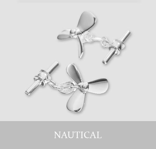 Sterling Silver Nautical Cufflinks and Jewellery