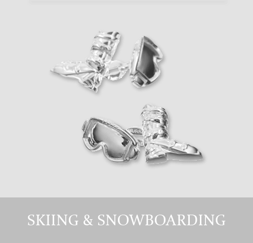 Sterling Silver Skiing & Snowboarding Cufflinks and Jewellery